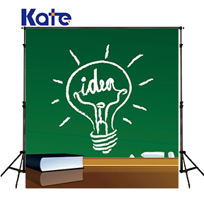 Kate Cartoon Blackboard Backdrops Photography Light Bulb Idea Book Chalk Backgrounds For Photo Studio new kitchen idea book
