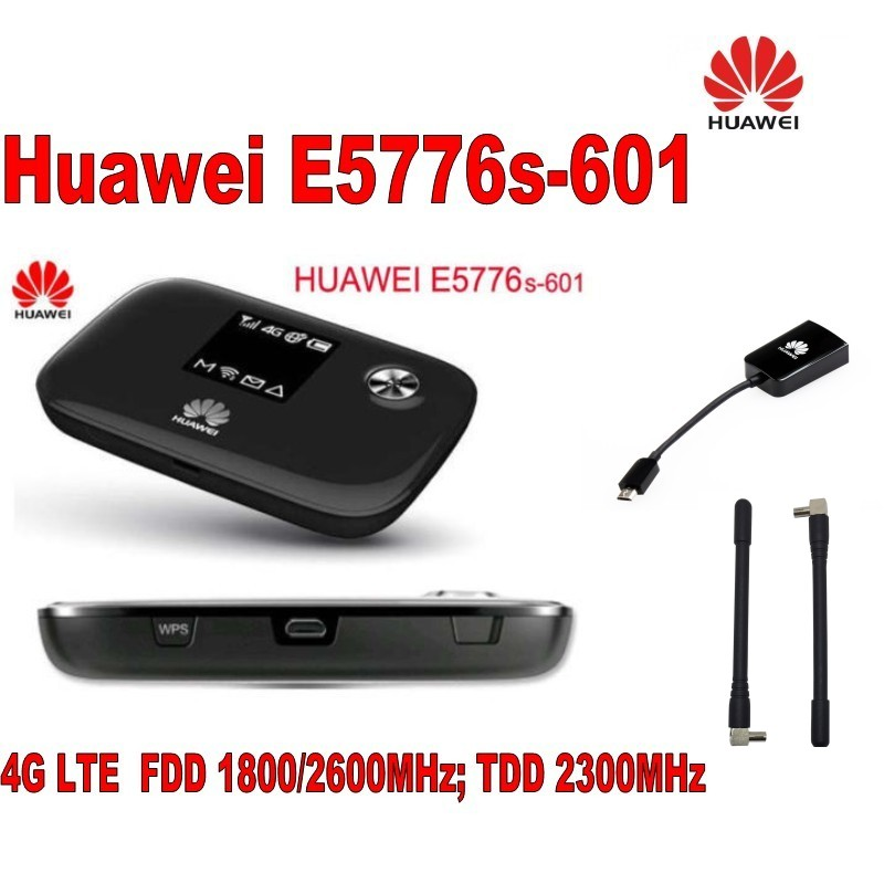 New Unlock Huawei E5776s-601 4G LTE FDD TDD Wireless Router 150M Wifi Modem&huawei AF10 adapter&A pair 4g antenna nlocked 100mbps 4g lte router sierra aircard 760s 4g lte wireless mobile modem