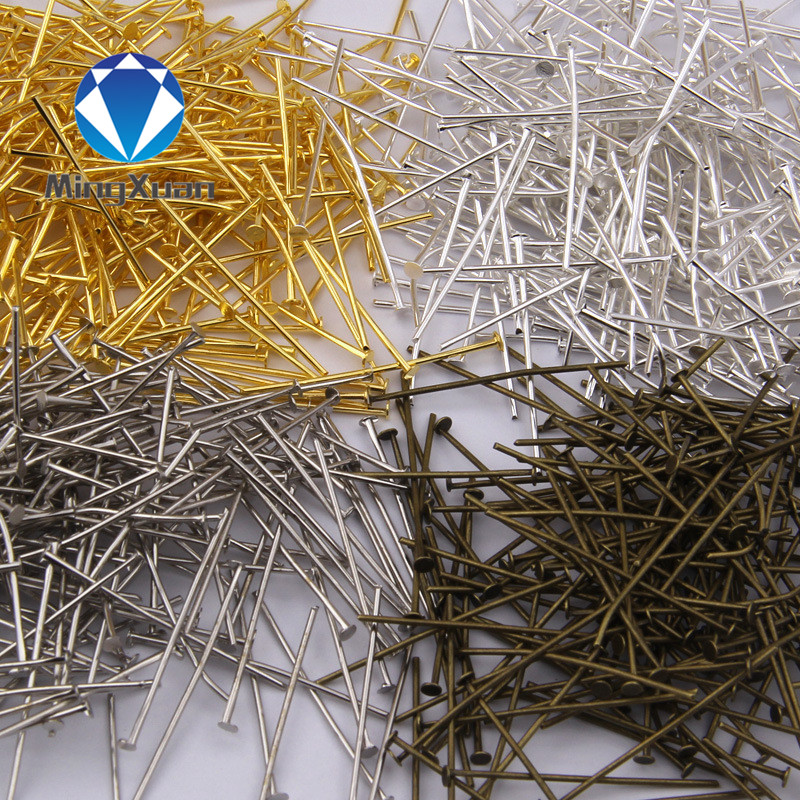 18-40mm (21 Gauge) 200pcs/bag  Jewelry Findings Flat Head Pins DIY For Earring,bracelet And Necklaces 6colors