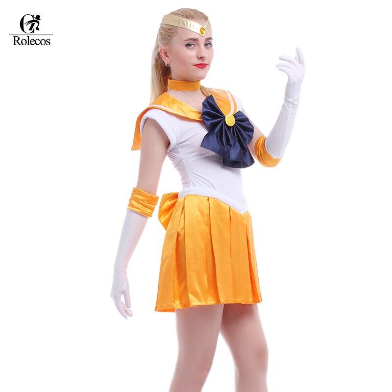 Anime grazioso soldier sailor moon cosplay donna halloween costume party girl mercurio moon mars dress su misura per voi