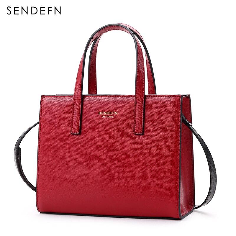 Image 3 - Sendefn 2018 nova pequena bolsa de ombro feminina luxo couro crossbody sacos feminino rosa bolsa de embreagem senhora clássico correntes aleta 6Bolsa a tiracolo   -