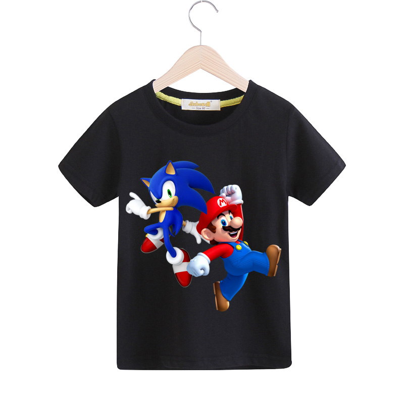 Boys Cartoon Mario Print T-shirts Clothes Girls Casual Tees Top Costume Children 2019 Spring Tshirts Kids Summer T Shirts TX142Boys Cartoon Mario Print T-shirts Clothes Girls Casual Tees Top Costume Children 2019 Spring Tshirts Kids Summer T Shirts TX142
