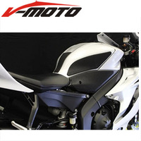 High quality leather Motorcycle Tank Traction Side Pad Gas Fuel Knee Grip Sticker Decal For Yamaha YZFR6 YZF R6 YZF R6 2017