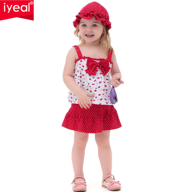 2017 New Hot Summer Baby Girl Clothes Set Children T-shirt+Tutu pants+hat 3PCS Kids Newborn bebe Clothing Set For 0-2 years