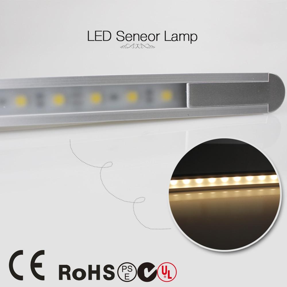 где купить 50cm 360LM 24leds 5050 LED PIR infrared Motion Sensor lights bar detector lamp 5.8W 0.5m 12V closet Night cabinet Light tube по лучшей цене
