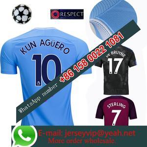 2017 2018 Manchesteer Citys jersey 17 18 Home Away football camisetas Thai  AAA shirt survetement football Soccer jersey 3656ef4f92c55