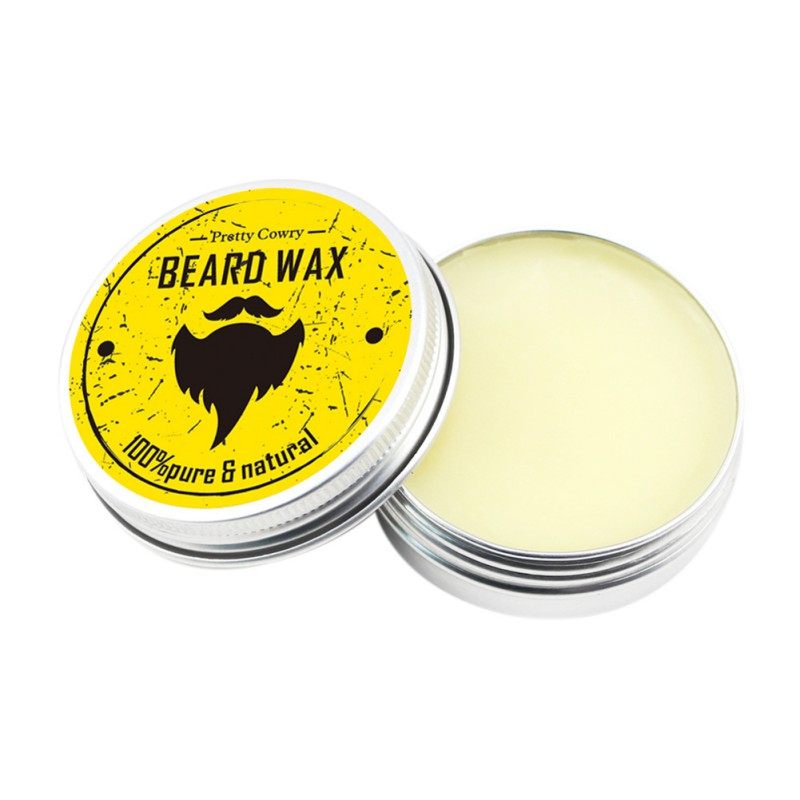 Men Beard Oil Balm Moustache Wax for styling Beeswax Moisturizing Smoothing Gentlemen Beard Care 3