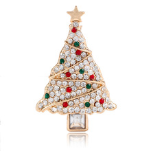 CINDY XIANG Cute Crystal Christmas Tree Brooches For Women Colorful Rhinestone Star Pins Coat Dress Accessories Jewelry 2018