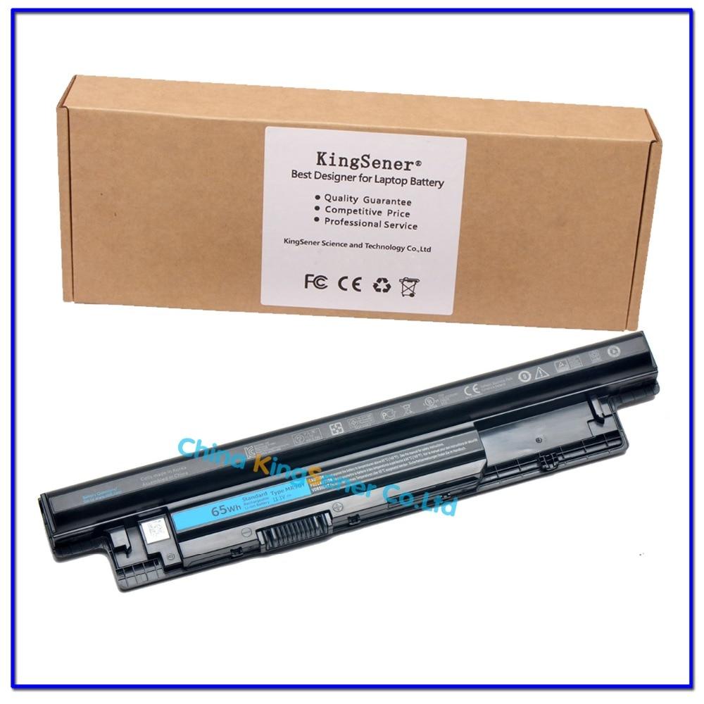 ФОТО 11.1V 65WH Korea Cell Original  MR90Y Laptop Battery for DELL Inspiron 3421 3721 5421 5521 5721 3521 XCMRD 68DTP G35K4 6CELLS