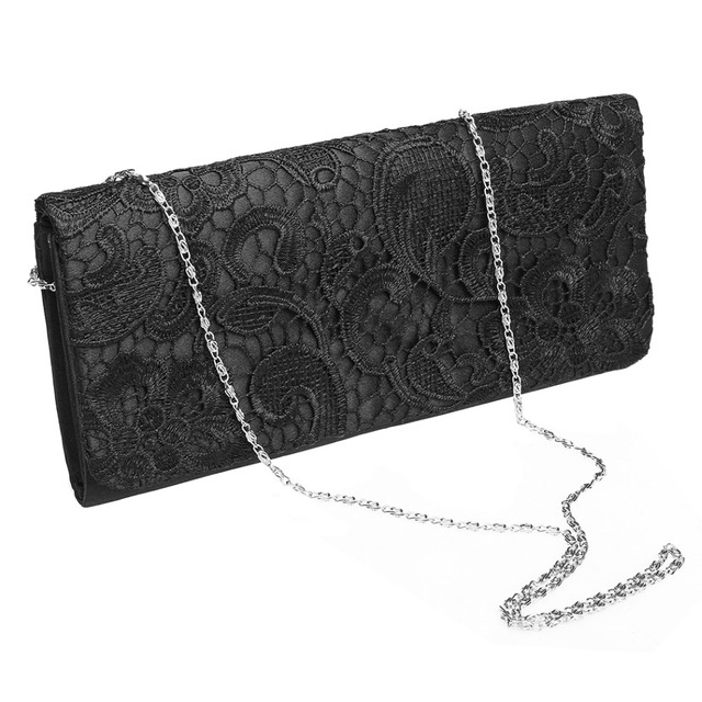 562924ca74ac Women Lace Clutch Bag Flower Lace Satin Evening Bags handbag High-Grade  Silk Party Bag dinner Exquisite Packages Minaudiere