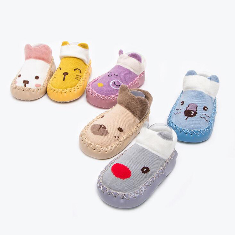 WunderschöNen Neue Nette Non-slip Baby Boden Socken Cartoon Farbe Passenden Baby Kleinkind Socken