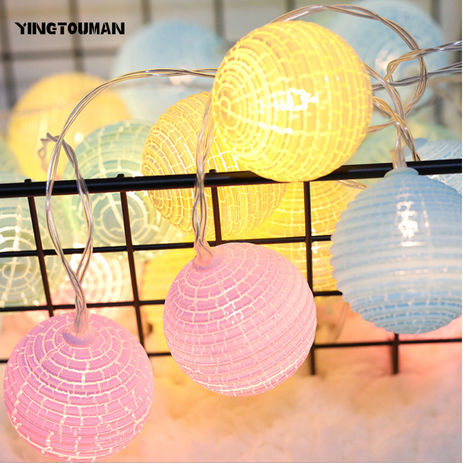 YINGTOUMAN Corrugated Blub Battery/plugs Lamp LED String Light Christmas Holiday Wedding Party Decoration Lighting 4m 20led