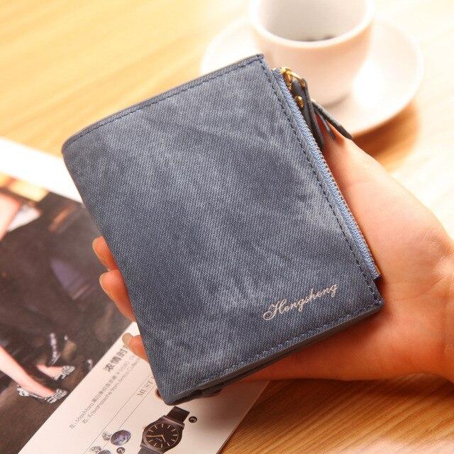 Modny top Quality mały portfel PU matowa skórzana portmonetka krótki kobiet monety portfel zamek sprzęgła monety kiesy karty kredytowej