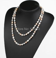 Nice Freshwater Pearl Double Layer Necklace Women Pearl Necklace