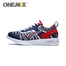 Original ONEMIX Cheap Running Shoes for Men With Blue White Red Mesh Leather Breathable Walking Athletic Sneakers Free Shipping