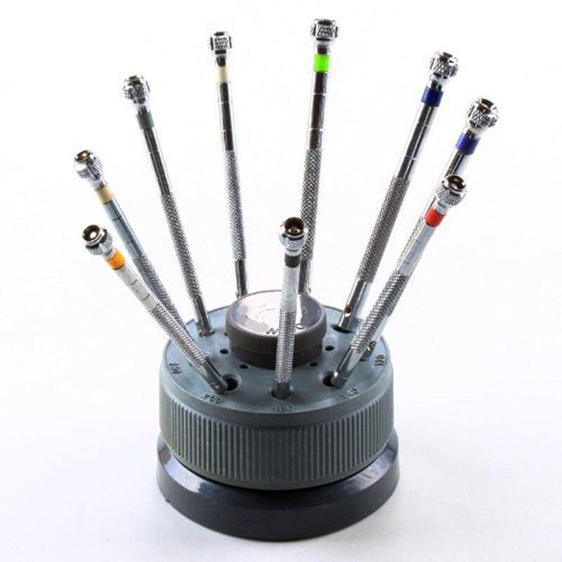 9 Pcs/ensemble 0.5 MM-2.0 MM Précision Montre Lunettes Flat Blade Tournevis Horlogers Outils De Réparation Livraison Gratuite WT0017