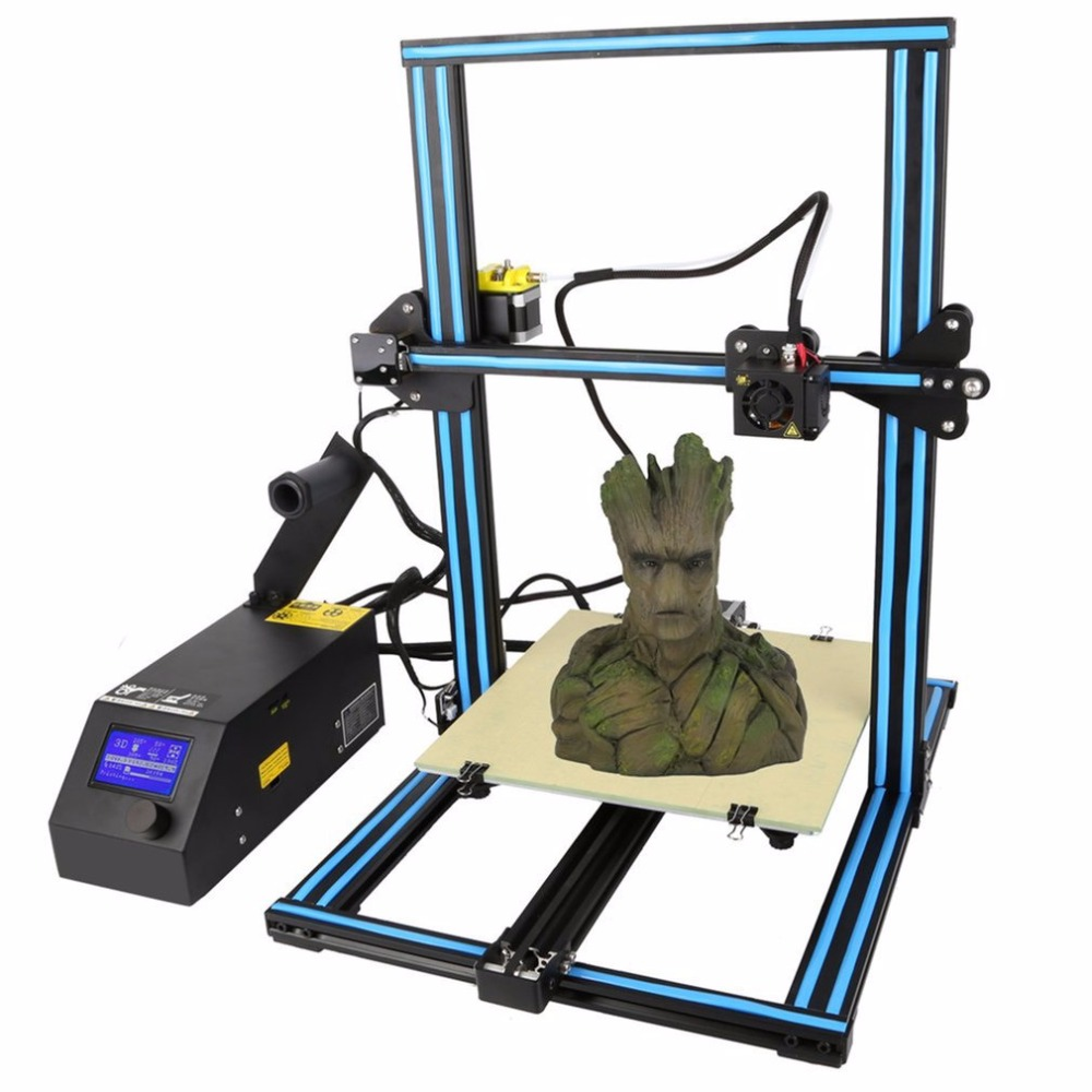 High Precision 3D Printer LCD Screen Display Pre-Assembled Aluminum 300x300x400mm Large Printing Size Printing Machine promotion price mingda new glitar 6c 300 200 600mm big 3d printer machine large 3d printing machine with touch screen lcd