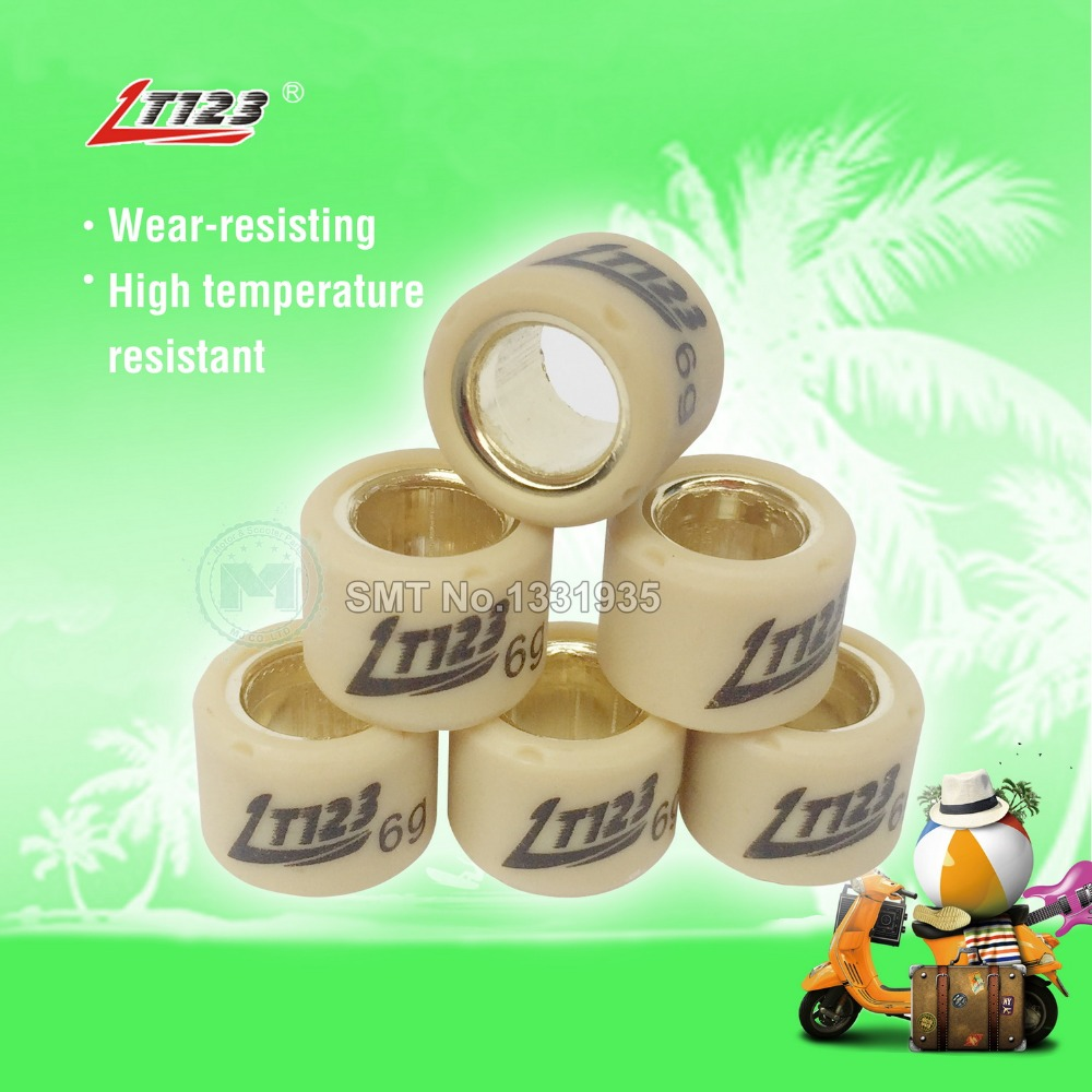 Motorcycle Scooter Performance Drive Pulley Weight Variator Roller Set 16x13 For DIO 50 GY6 50cc
