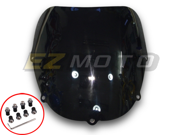 Motorcycle Windshield Fits for Kawasaki ZZR250 1990 1991