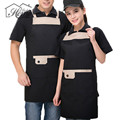 Adjustable Apron Bib Uniform With Pockets Hairdresser Kit Salon Hair Tool Pvc Waterproof Chef Waiter Kitchen Cook Baking Tool