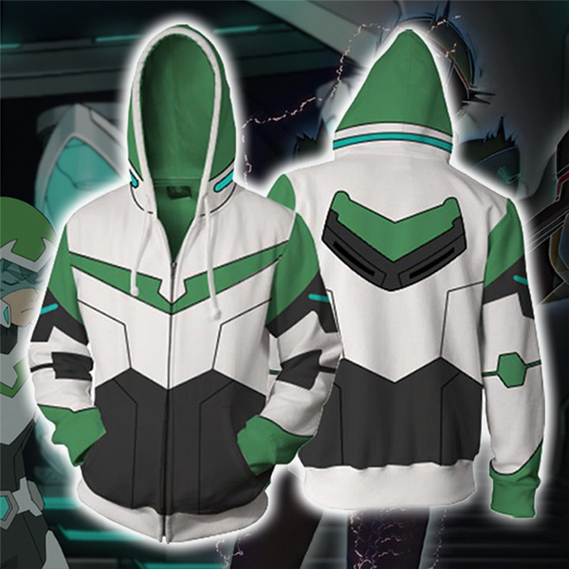 6Color Japan Anime Sweatshirts Voltron Rance Cosplay Costume Autumn men and women anime 3D Printing zipper Jacket Hooded