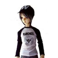 Wamami 766 White Words T Shirt Outfit For 1 4 MSD DZ DOD BJD Dollfie
