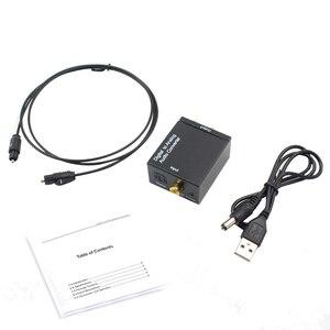Image 1 - Optik koaksiyel Toslink dijital Analog ses dönüştürücü adaptör RCA L/R 3.5mm