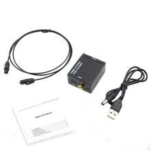 Optische Koaxial Toslink Digital zu Analog Audio Converter Adapter RCA L/R 3,5mm