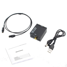 Ottico Toslink Coassiale Digitale ad Analogico Audio Converter Adapter RCA L/R 3.5 millimetri