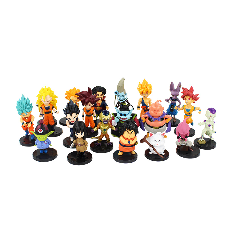 20 Styles Dragon Ball Z pvc Action Figures toys Crazy Party Dragonball DBZ PVC Figures collection Dolls 1set special crazy hair troll squinkies doos capsule toy vending machine figures mix styles action figures cute pvc toys model