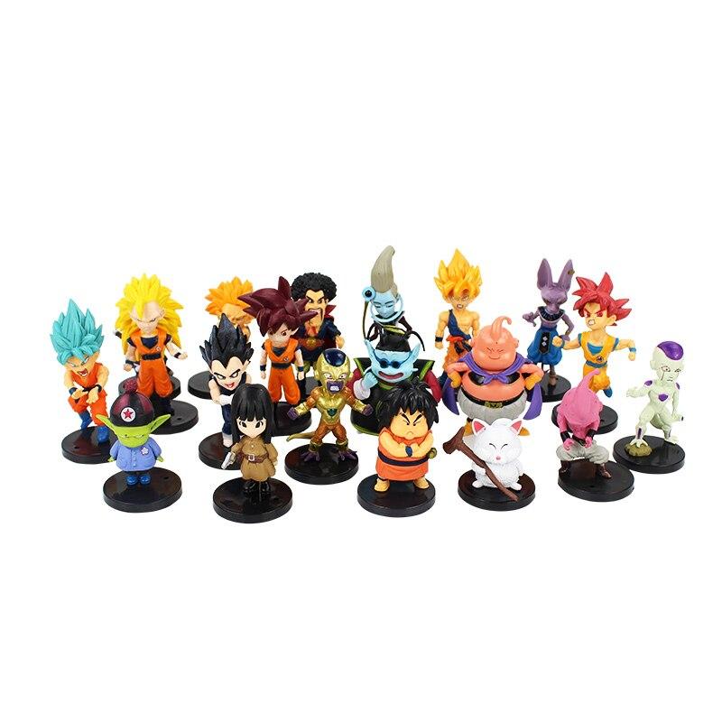 20 Styles Dragon Ball Z pvc Action-figuren spielzeug Verrückte Party Dragonball DBZ PVC Figuren sammlung Puppen