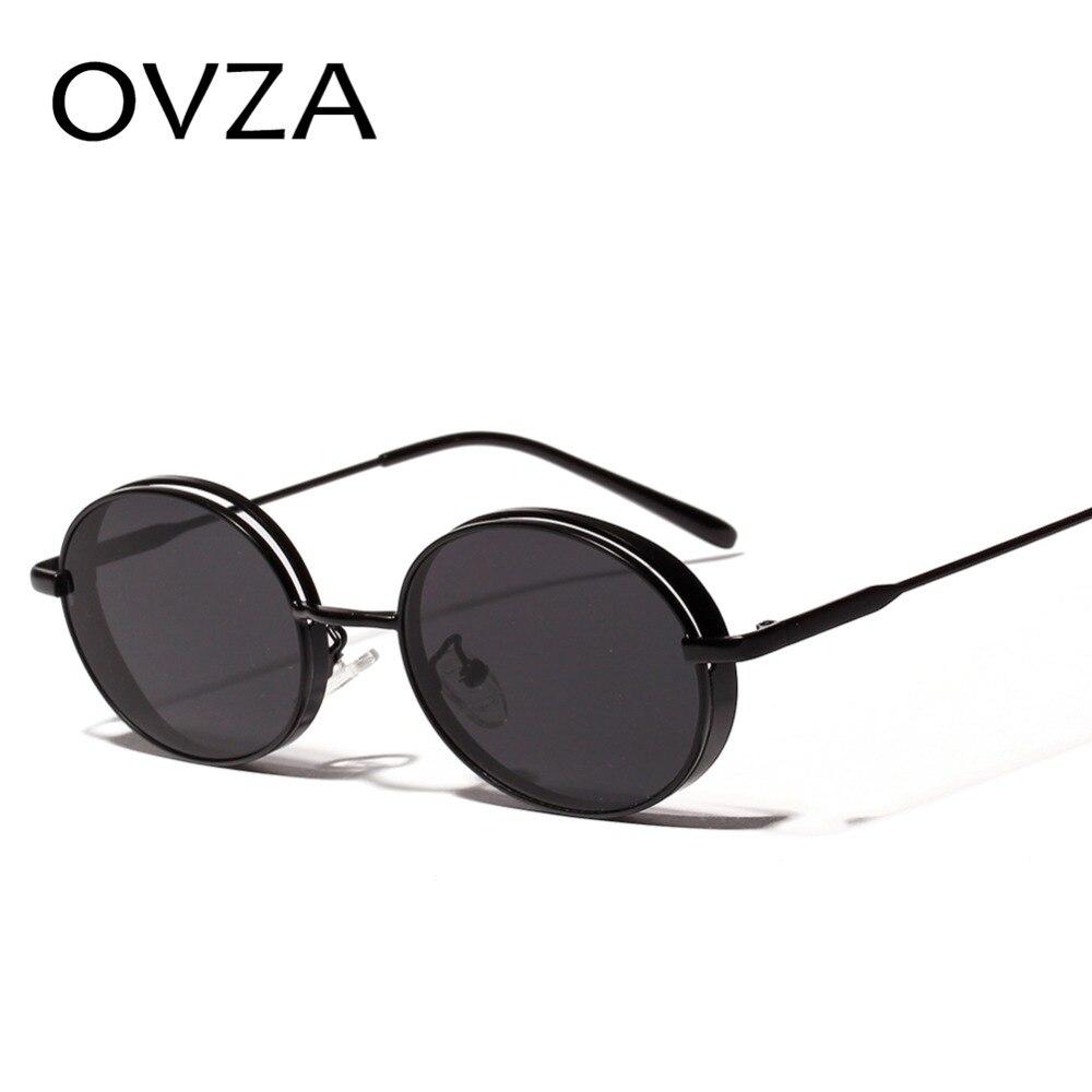021b47c9fda OVZA Small Steampunk Sunglasses Men Oval Retro Women Sunglasses Classic  Vintage Glasses Punk Goth Style oculos masculino S8025-in Sunglasses from  Apparel ...
