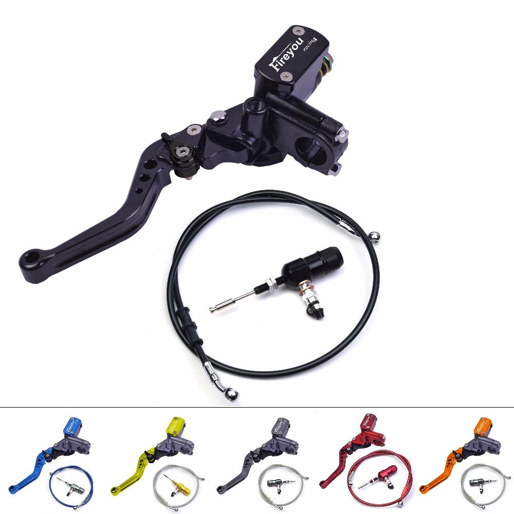 Motorcycle Master Cylinder Lever Hydraulic Clutch Oil Hose Line Pipe Rear Foot Brake Pull RodAtv Dirt