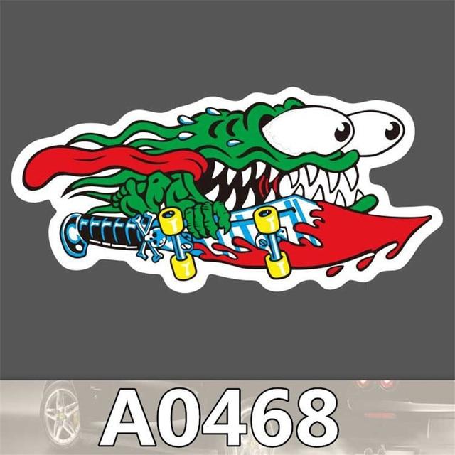 A0468 Anime Punk Cool Sticker For Car Laptop Luggage Fridge