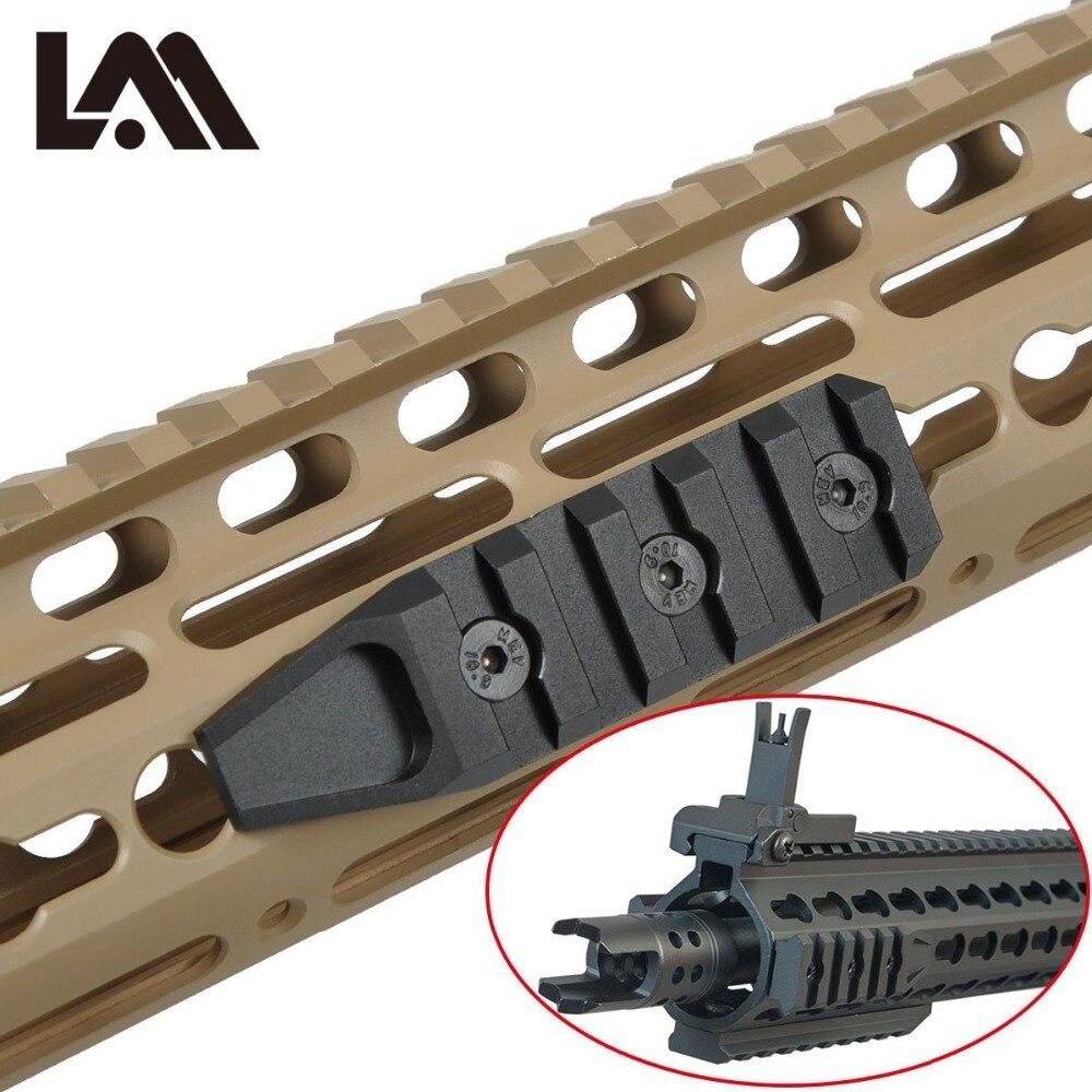 LAMBUL Keymod Garde Rail Fuzil Accessoires De Chasse 5 Emplacements URX 4.0 Carabina Rail Quadruple AR15 M4 M16