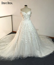 2017 Ball Gown Elegant Wedding Dresses with Sweetheart Neckline Short Sleeves Floor Length Royal Train Bridal Gowns