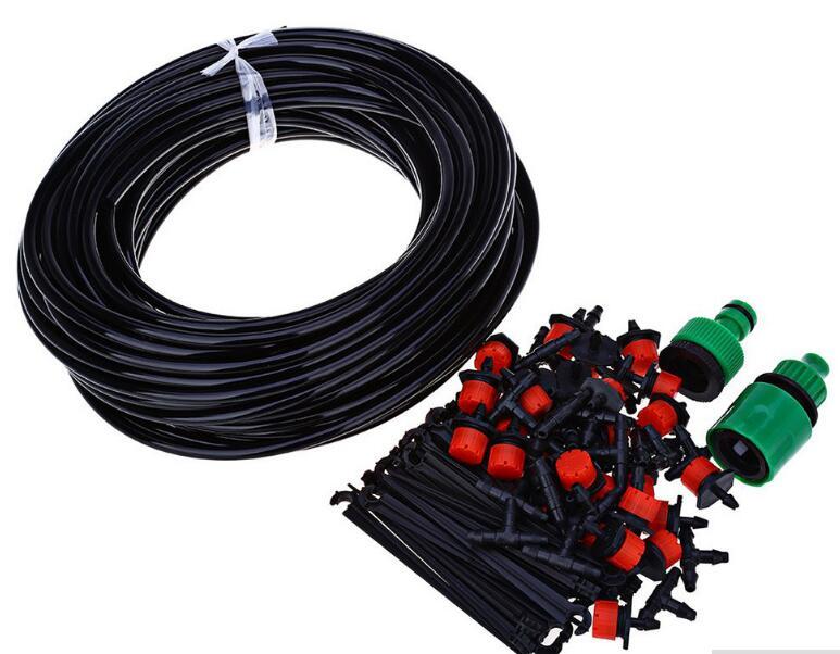 10m slang med Dripper DIY Plant Självvattnande trädgårdsslang Micro Drip Irrigation Kit System