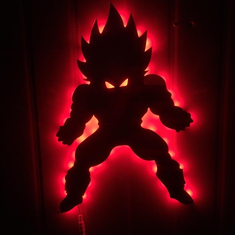 Dragon ball 3D Led Wandleuchte Nachtlicht Vegeta Kreative Action - Nachtlichter - Foto 4