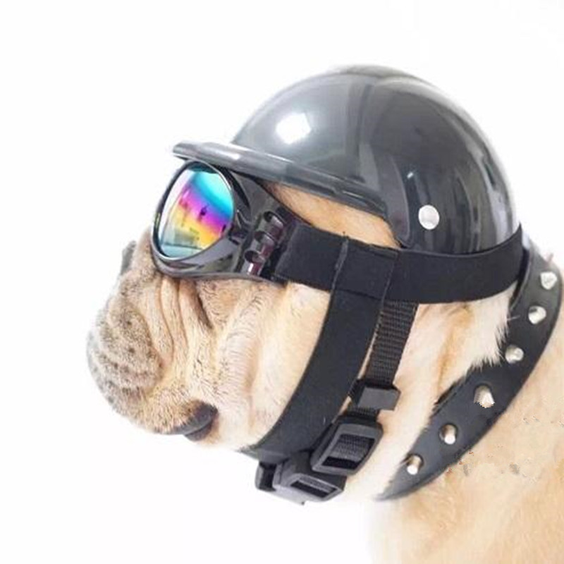 cute dog hat helmet aviator sunglasses for pet cat costume. Black Bedroom Furniture Sets. Home Design Ideas