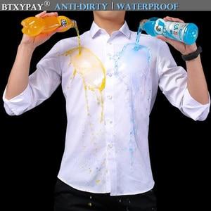 Image 1 - Men Waterproof Anti Dirty Free ironing Business Shirts Hydrophobic Stainproof Antifouling Quick Dry Top Long Sleeve Shirt M 5XL