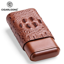 2019New arrival  cigar case portable humidor box travel leather CF-0406