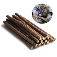 15 & 20шт натуральная кошачья мята Pet кошка молярная зубная паста палка Matatabi плод актинидии Silvervine для кошек снэки палочки для чистки зубов
