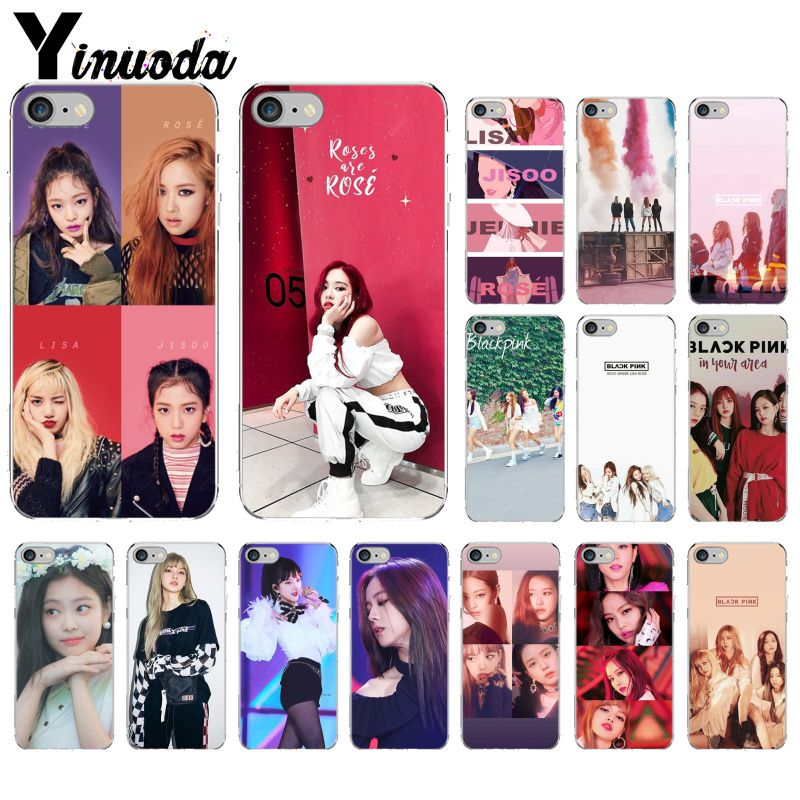Yinuoda BLACK PINK BLACKPINK <font><b>kpop</b></font> collage Soft Silicone TPU Phone Cover for <font><b>iPhone</b></font> 5 5Sx 6 7 7plus 8 8Plus X XS MAX XR image