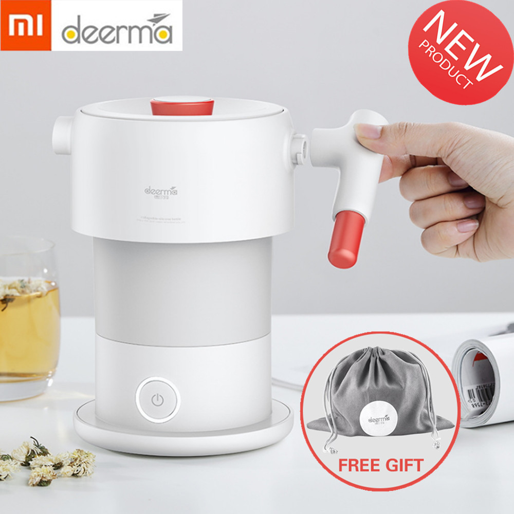 Xiaomi Deerma 0.6L Folding Electric Water Kettle Handheld Portable Water Flask Pot Auto Power-off Protection Kettle For HomeXiaomi Deerma 0.6L Folding Electric Water Kettle Handheld Portable Water Flask Pot Auto Power-off Protection Kettle For Home