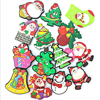 2017 Hot Creative Cartoon Snowman Reindeer Santa Fridge Magnet Sticker Refrigerator Christmas Home Party Ornaments Decoration