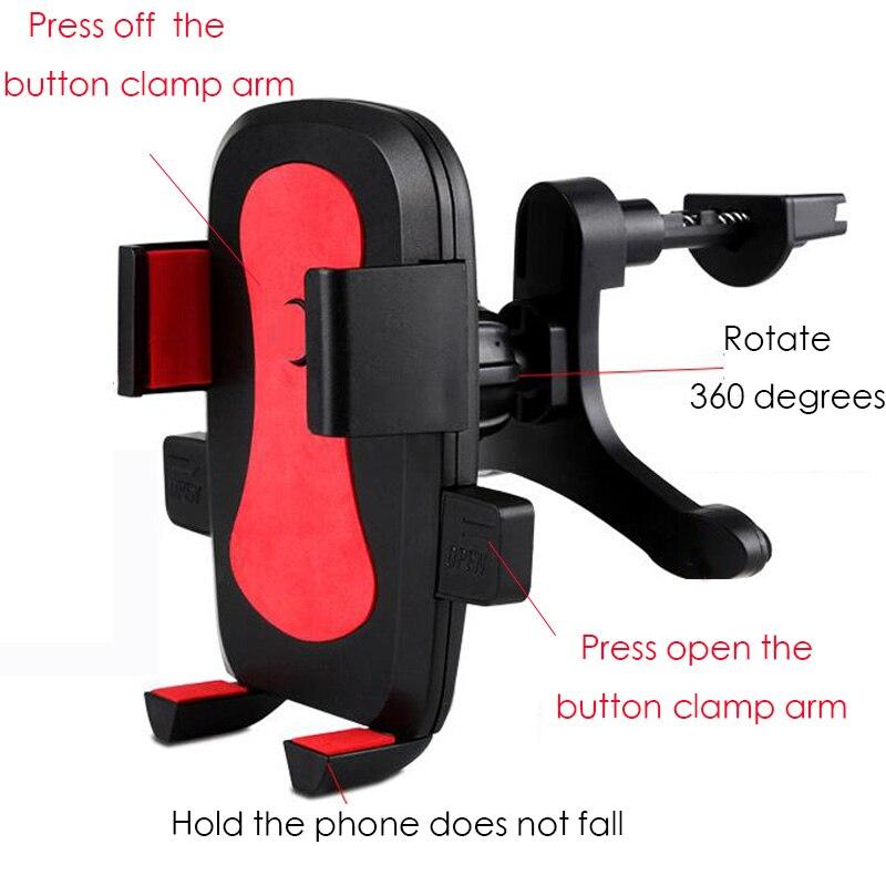 Dudukan Telepon mobil universal Air Vent Mount Car Holder 360 Derajat - Aksesori dan suku cadang ponsel - Foto 4