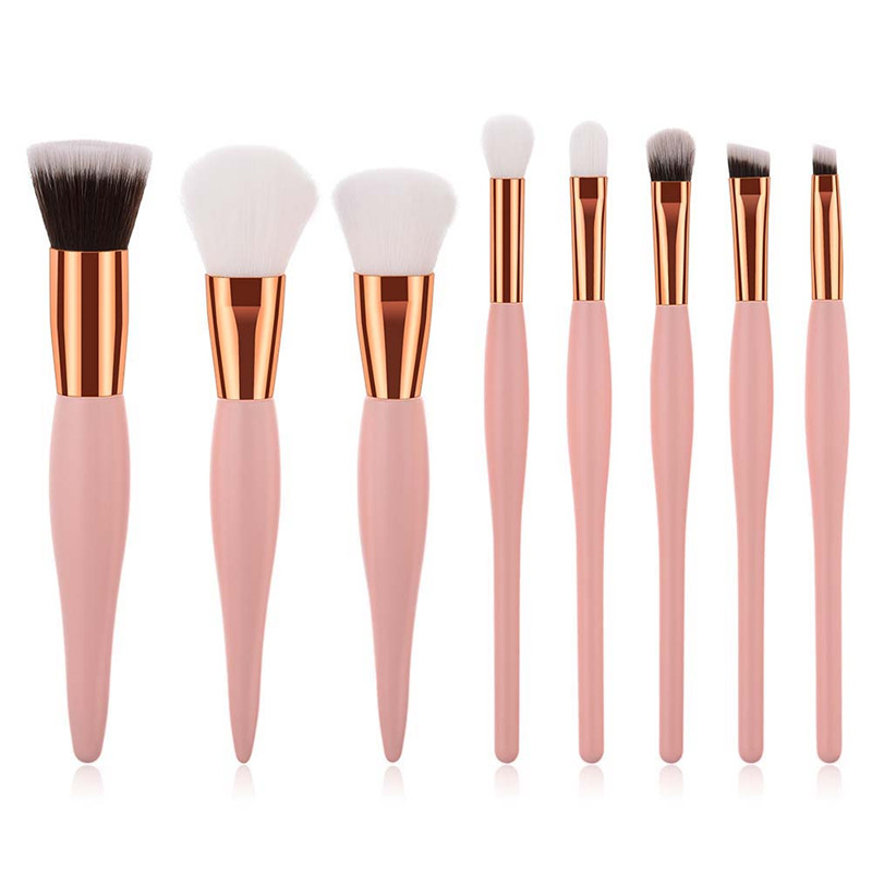 8-15pcs Pink Professional Makeup Brushes Set Foundation Powder Blusher Contour Eyeshadow Beauty Cosmetics Makeup Brush Tools Kit