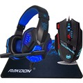 9200 DPI Ajustable 8 Botones Profesional Gaming Mouse Computer Mouse + Deep Bass LED Luz Pro Juego de Auriculares + Gaming Mouse Pad