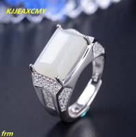 KJJEAXCMY Fine Jewelry 925 Silver Inlaid Colorful Natural Hetian Jade Ring Men S Rings Wholesale And