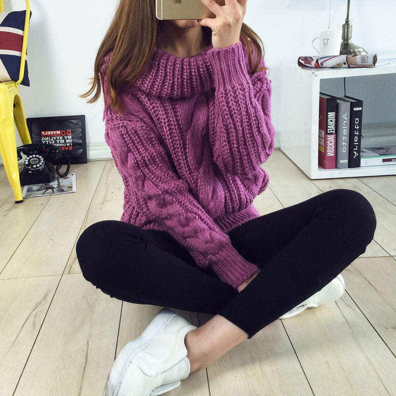 Woman Turtleneck Sweaters Casual 2015 New Winter Warm Sweater...